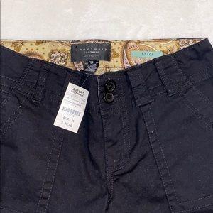 Sanctuary Shorts - Sanctuary Black Long Shorts